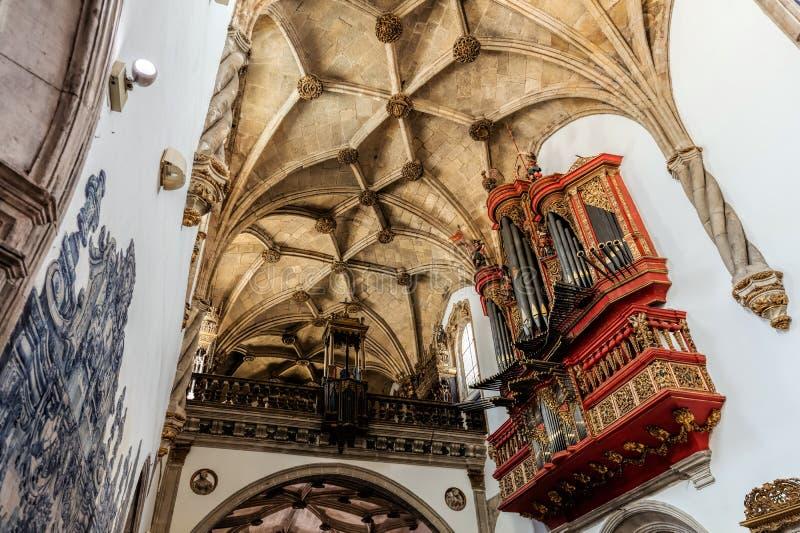 Klooster van Santa Cruz in Coimbra stock afbeeldingen