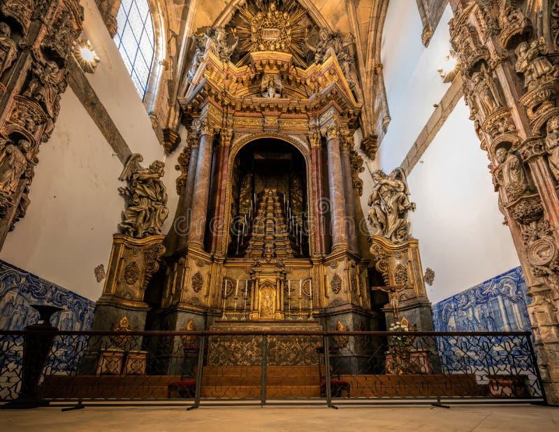 Klooster van Santa Cruz in Coimbra stock foto