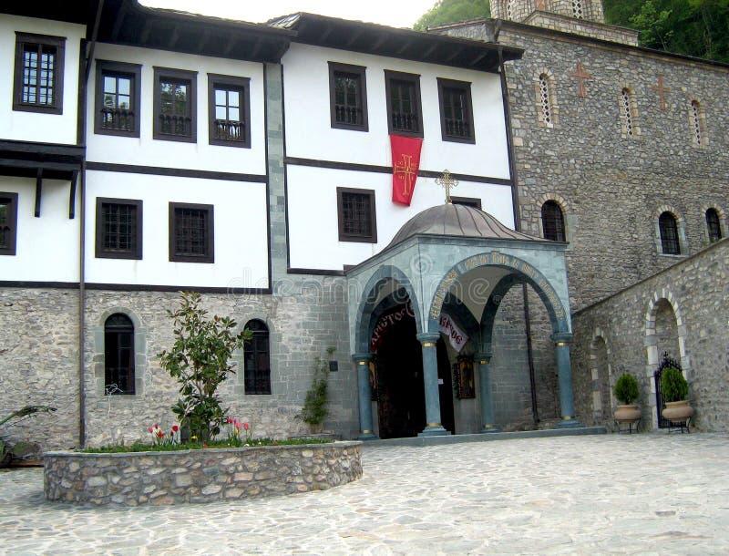 Klooster van St John Doopsgezind, Macedonië stock foto's