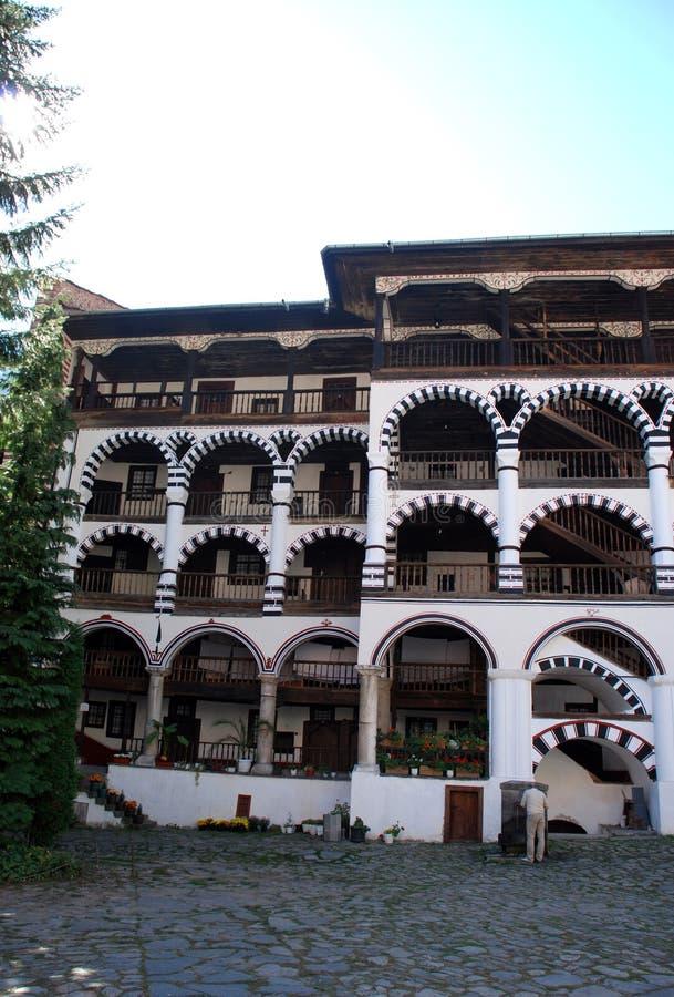 Klooster van St John Rilski, Rila-Berg, Bulgarije royalty-vrije stock foto's