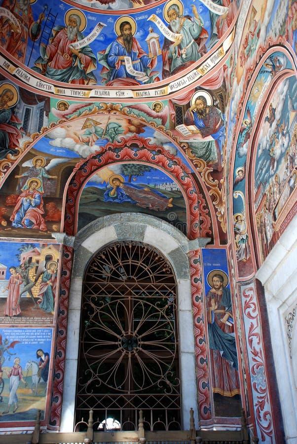 Klooster van St John Rilski, Rila-Berg, Bulgarije stock foto