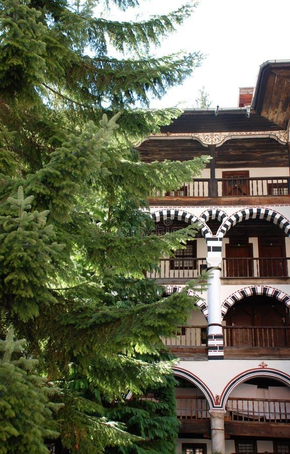 Klooster van St John Rilski, Rila-Berg, Bulgarije royalty-vrije stock afbeelding