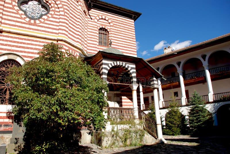 Klooster van St John Rilski, Rila-Berg, Bulgarije royalty-vrije stock foto