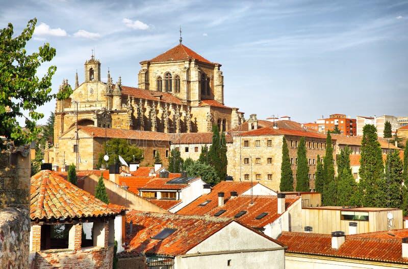 Klooster van St Stephen in Salamanca stock fotografie