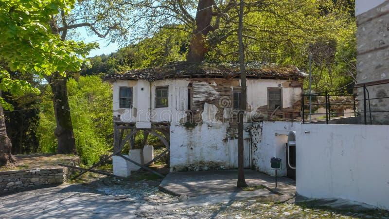 Klooster van Timiou Prodromou St John de Doopsgezinde dichtbijgelegen stad van Serres, Griekenland royalty-vrije stock fotografie