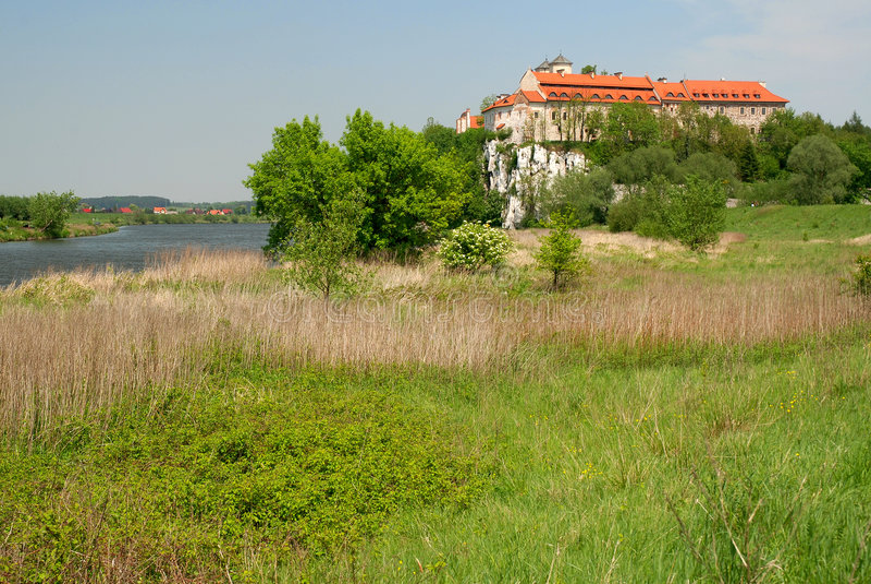 Klooster van Tyniec royalty-vrije stock afbeelding