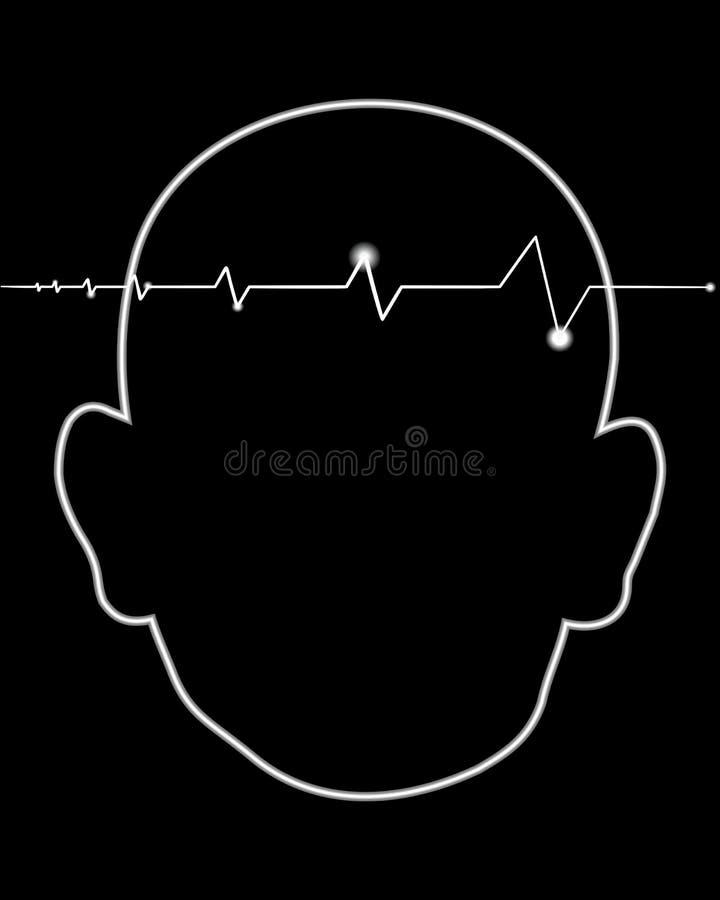 Klopfende Kopfschmerzen stock abbildung