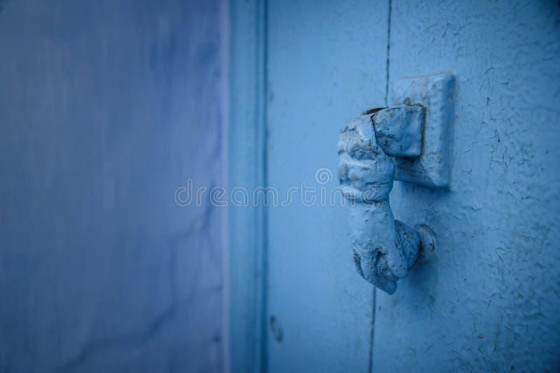Kloppers in Chefchaouen, de blauwe stad in Marokko stock foto's