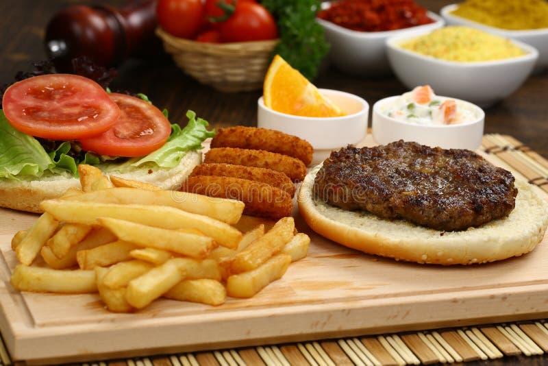 Klopsika hamburger zdjęcia stock