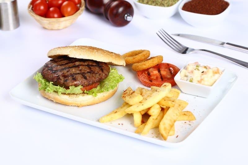 Klopsika hamburger fotografia royalty free