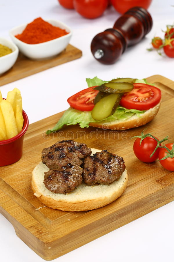 Klopsika hamburger zdjęcie stock