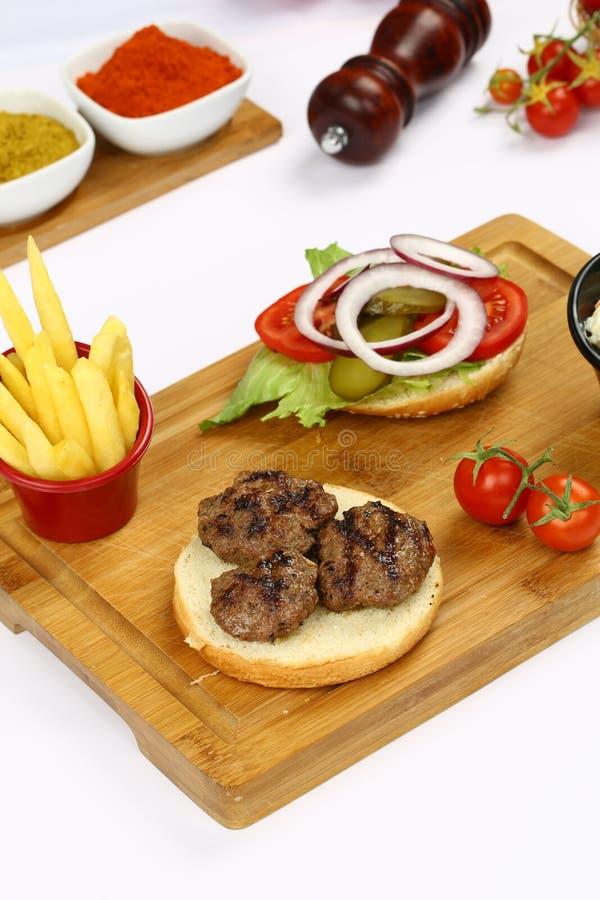 Klopsika hamburger obrazy royalty free