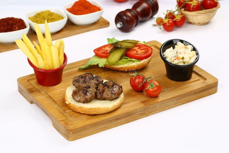 Klopsika hamburger zdjęcie royalty free