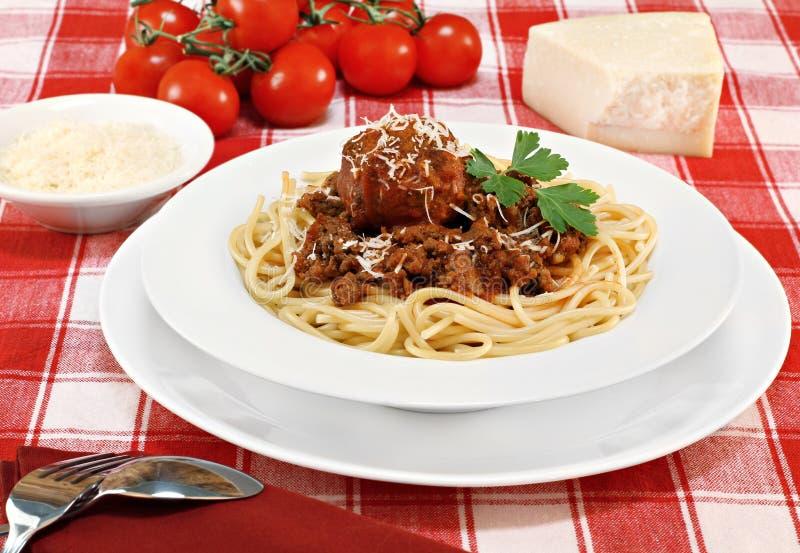 klopsika spaghetti zdjęcia royalty free