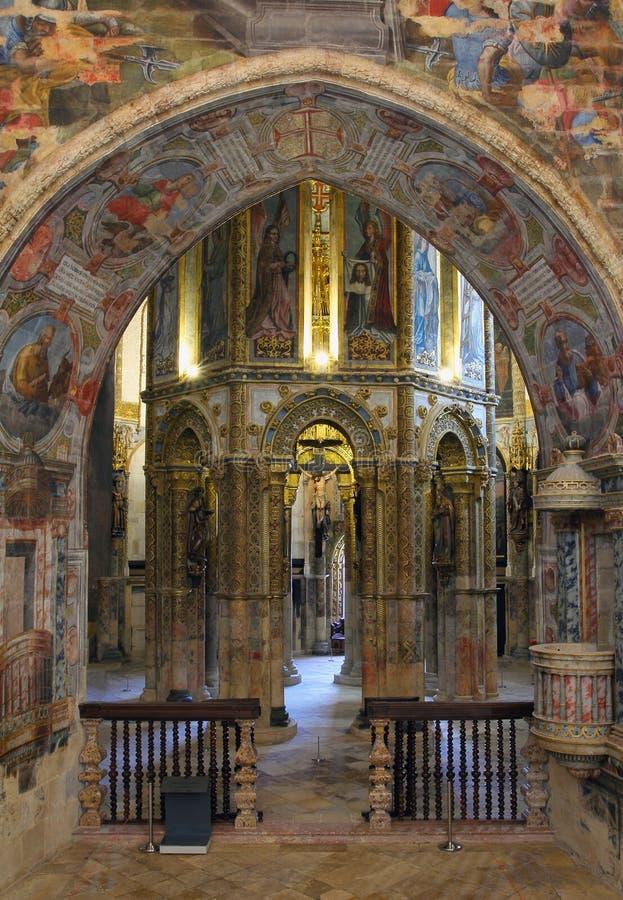 Kloster av beställningen av Kristus av Tomar arkivbild