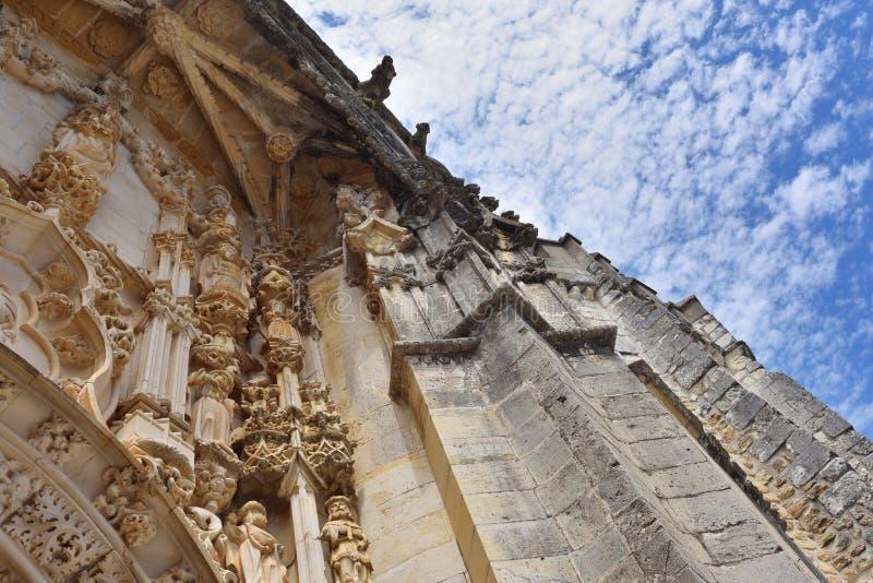 Kloster av beställningen av Kristus i Tomar Portugal, stendetalj arkivfoton