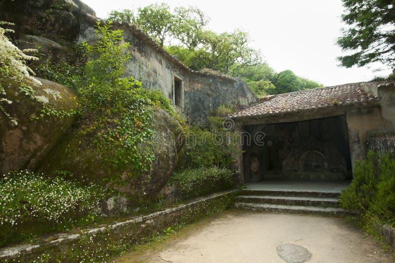 Kloster av Capuchosen - Sintraen arkivfoto