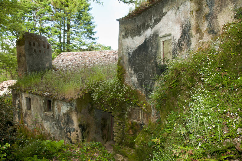 Kloster av Capuchosen - Sintraen - Portugal arkivbild