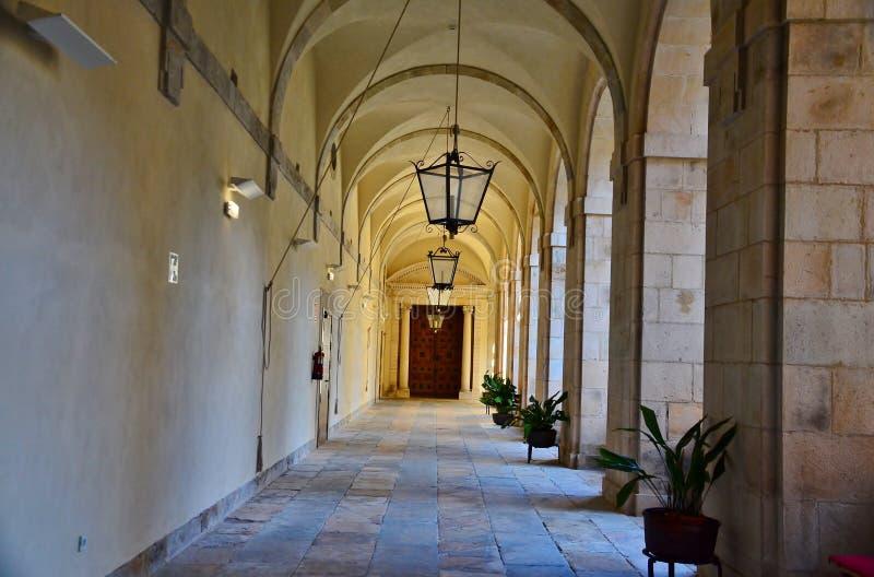 Kloster av coriascorias Spanien arkivfoto