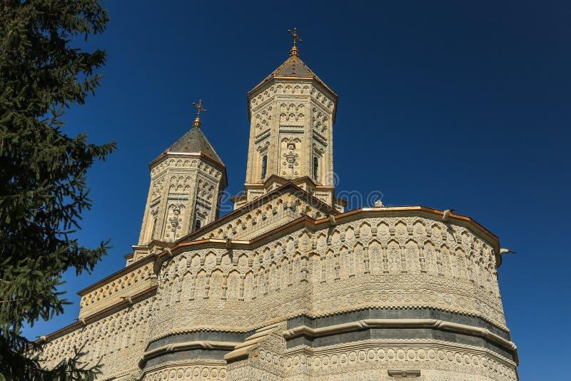 Kloster av den Trei Ierarhi för tre Hierarchs kloster - gränsmärkedragning i Iasi, Rumänien royaltyfria foton