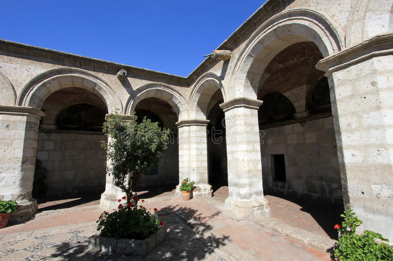 Kloster av helgonet Catherine, Santa Catalina, Arequipa, Peru royaltyfria bilder
