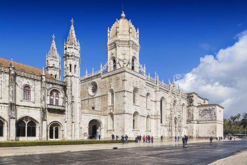Kloster av Jeronimos Belem Lissabon Portugal royaltyfria bilder
