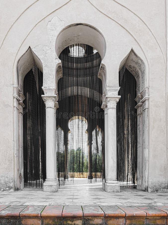 Kloster av Jultomten MarÃa de las Cuevas La Cartuja, Sevilla, Spanien Gardin 2004 för Olaf Nicolai svartpärlor royaltyfria foton