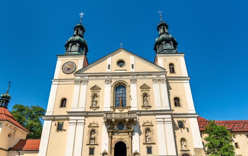 Kloster av Kalwaria Zebrzydowska, en UNESCOvärldsarv i Polen fotografering för bildbyråer