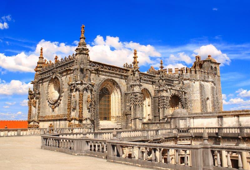 Kloster av Kristus i Tomar, Portugal royaltyfri foto