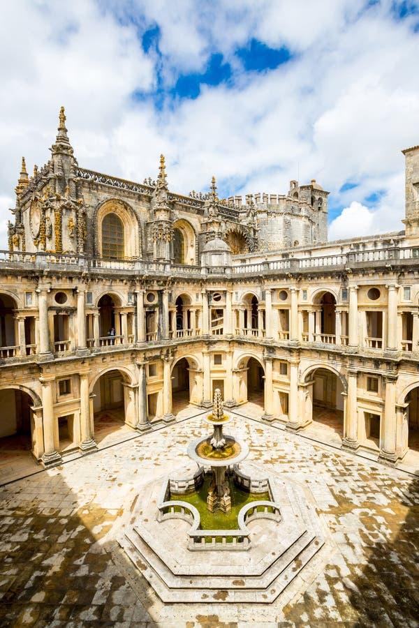 Kloster av Kristus Tomar, Lissabon Portugal royaltyfri bild