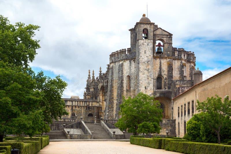 Kloster av Kristus Tomar, Lissabon Portugal arkivbild