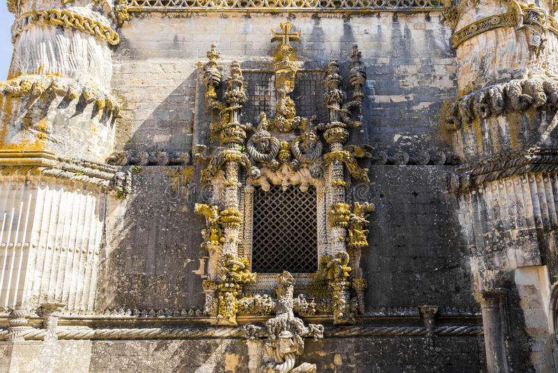 Kloster av Kristus, Tomar, Portugal fotografering för bildbyråer