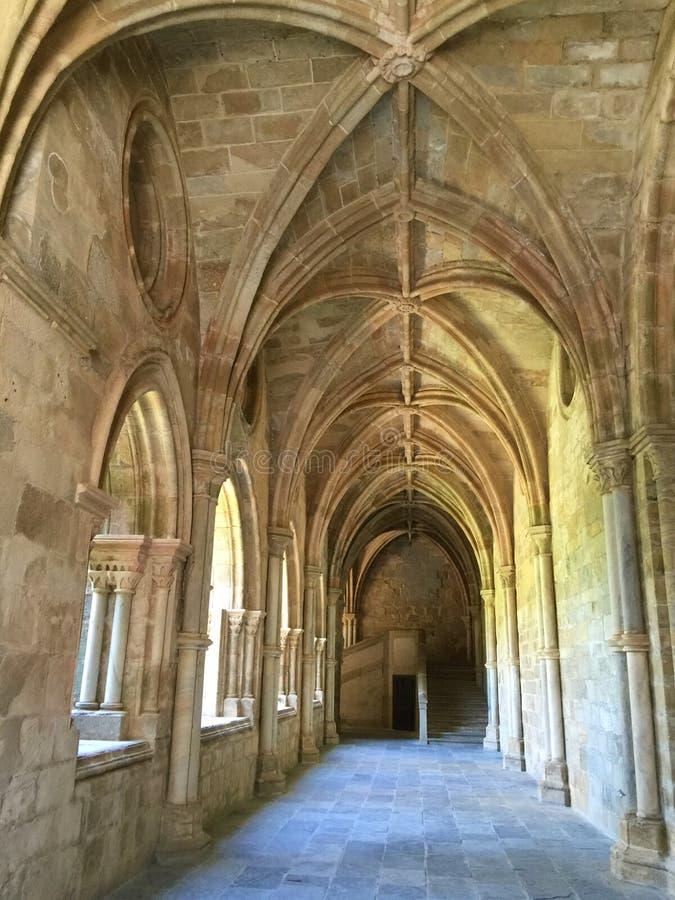 Kloster av Kristus - Tomar Portugal arkivfoto