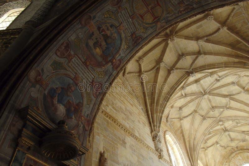 Kloster av Kristus Tomar Portugal arkivfoto