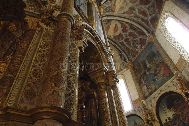 Kloster av Kristus Tomar Portugal arkivfoton