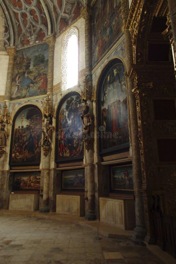 Kloster av Kristus Tomar Portugal royaltyfria foton