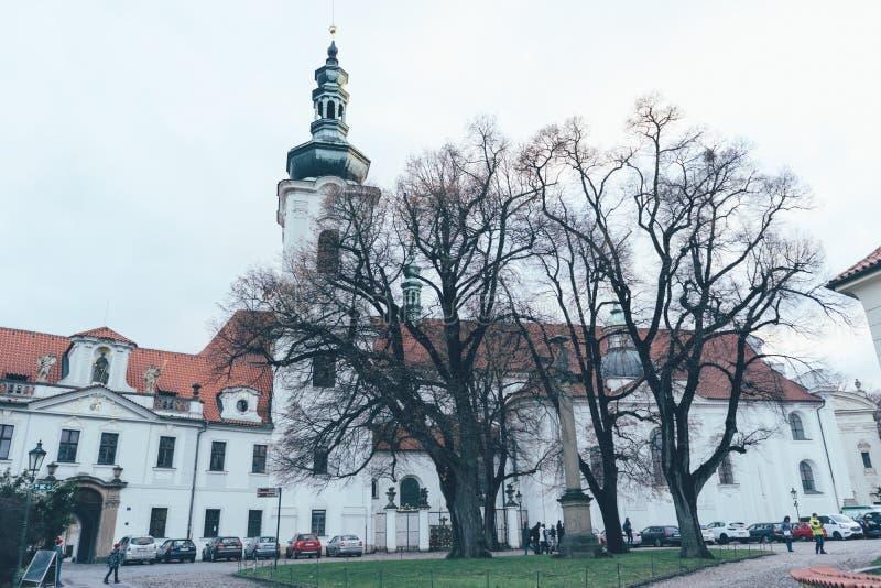 Kloster av skräck i prague fotografering för bildbyråer