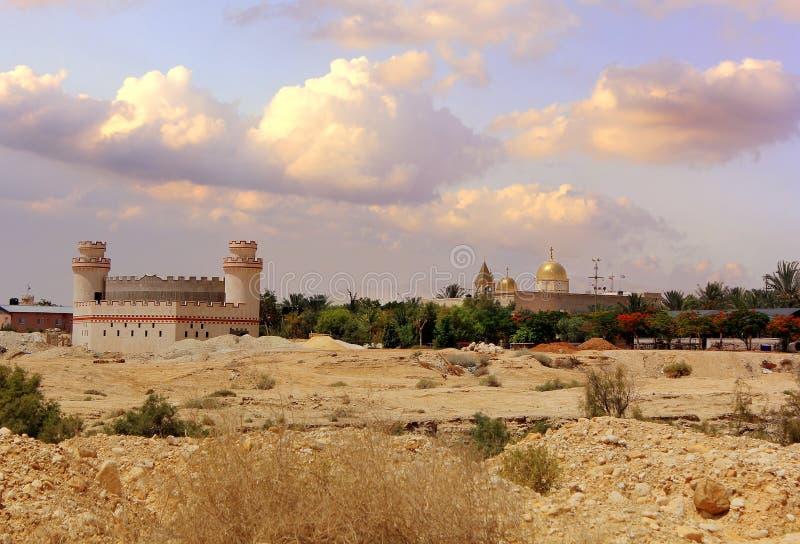 Kloster av St Gerasimos (Deir Hajla), Israel royaltyfri bild