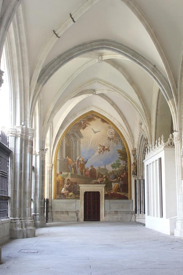 Kloster av St John av konungarna, Toledo, Spanien royaltyfria bilder