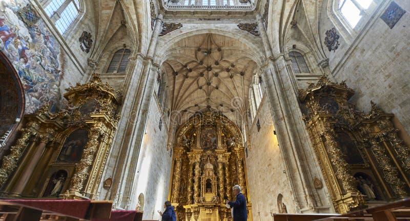 Kloster av St Stephen Soto trappuppgång Salamanca spain royaltyfria foton