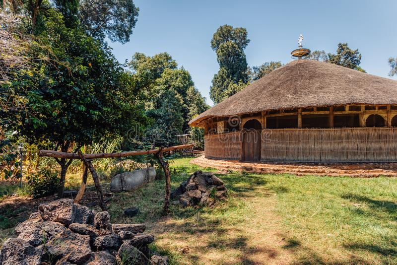Kloster Azwa Maryam, Bahir Dar Ethiopia arkivfoton
