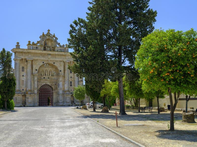 Kloster Cartuja de Santa Maria de la Defension de Jerez royaltyfri bild