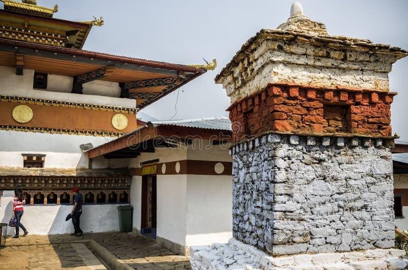 Kloster Chimi Lhakang, Punakha, Bhutan stockfoto