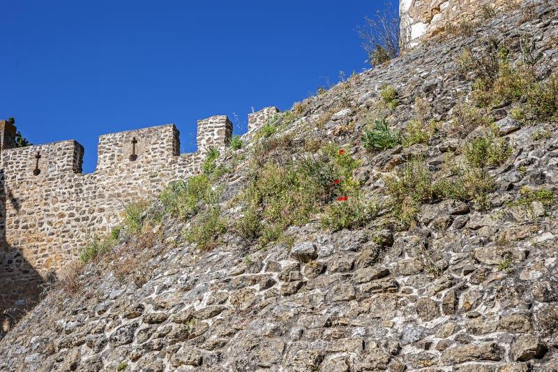 Kloster der Bestellung von Chris - die Festungswand und das shaf stockbilder
