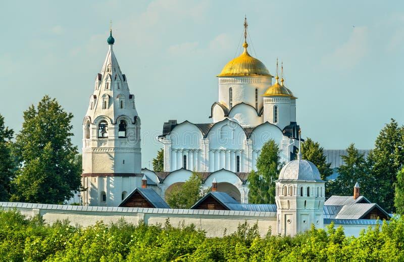 Kloster der Fürbitte des Theotokos in Suzdal, Russland stockfoto