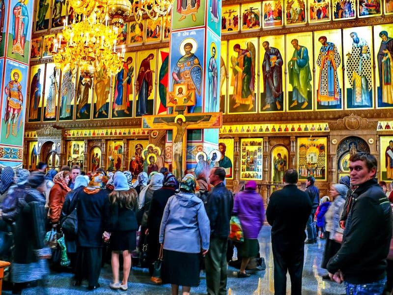 Kloster des heiligen Dormitions-Klosters, der Auftritt von lizenzfreie stockfotografie