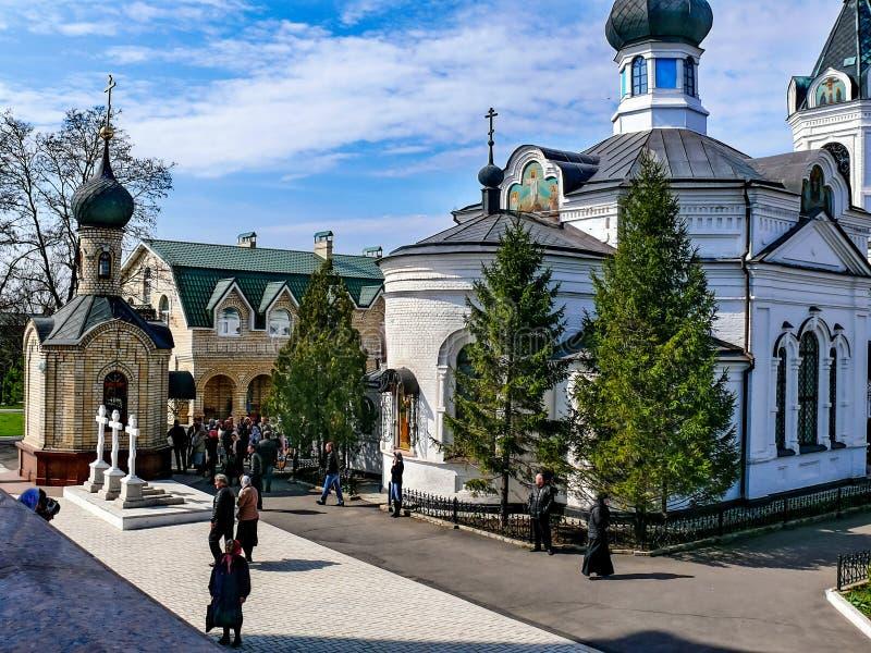 Kloster des heiligen Dormitions-Klosters, der Auftritt von stockbild