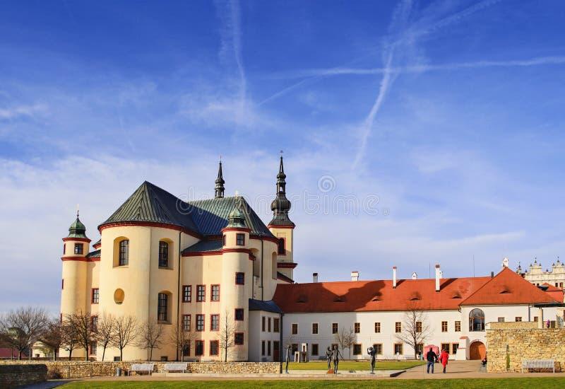 Kloster des heiligen Querfindens Litomysl, CZ stockfotos