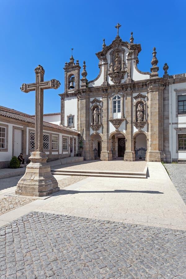 Kloster för Guimaraes Portugal - Santo Antonio DOS Capuchos arkivfoto
