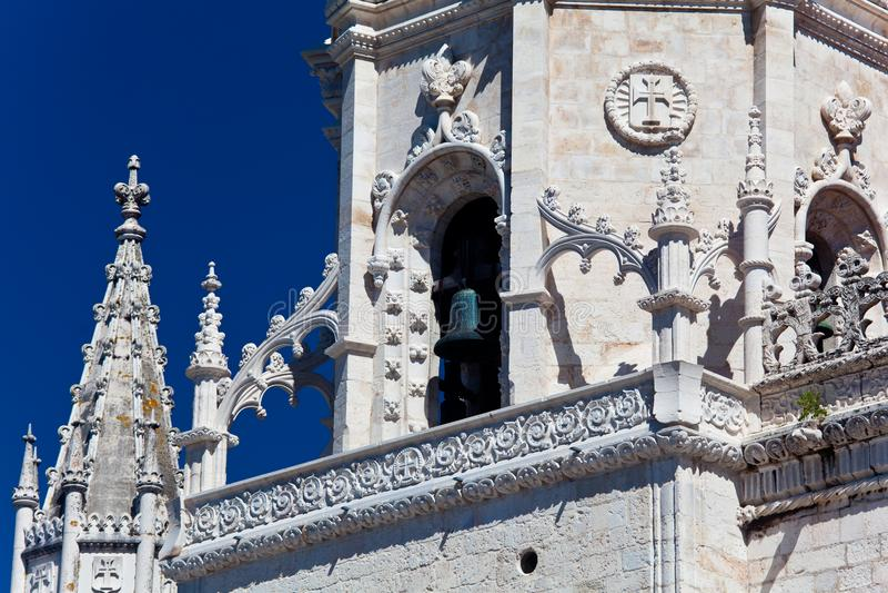 Kloster för Mosteiro DOS Jeronimos Hieronymites, arkivbild